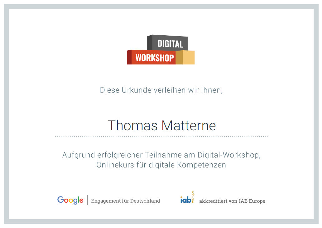 Google erklärt in einem digitalen Workshop das Internet